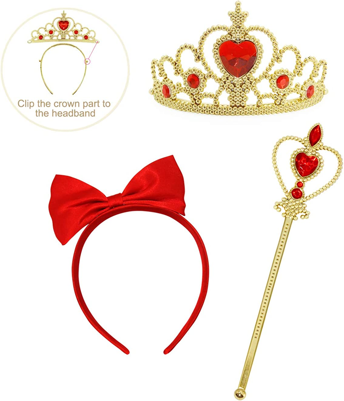 Cotrio Birthday Party Princess Dress Girls Halloween Costume Outfits Toddler Kids Cosplay Clothes with Crown Scepter