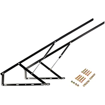 Homend Pair of 4 FT Pneumatic Storage Bed Lift Mechanism Heavy Duty Gas Spring Bed Storage Lift Kit for Box Bed Sofa Storage Space Saving DIY Project Lifter Lift Up Hardware 50 1.2M