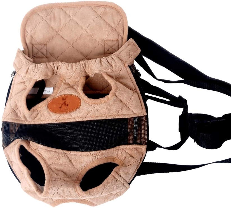 Krassu  Dog Carrier Fashion red color Travel Dog Backpack Breathable pet Bags Shoulder pet Puppy Carrier [Beige L]