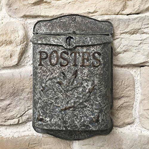 Brievenbus voor brieven, muurbrieven, zink, 40 cm