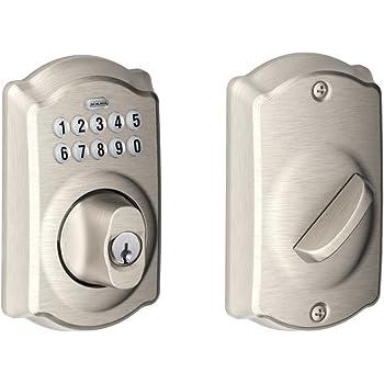 Schlage BE365CAM619 BE365 Camelot Keypad Deadbolt, Satin Nickel