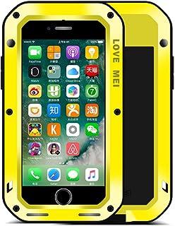 iPhone 7 Shockproof Funda, Cover, Love Mei Metal Aluminio Cover Extreme Alta Resistencia Protector Military Heavy Duty Carcasa con Cristal de Gorila para iPhone 7 / iPhone 8 4.7