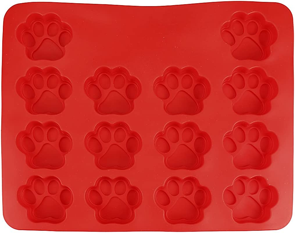 Biscuit Baking Mold SANNYSIS 1pcs Silicone Food Grade Cake Mold Mats Puppy Dog Paws Silicone Baking Mold Biscuit