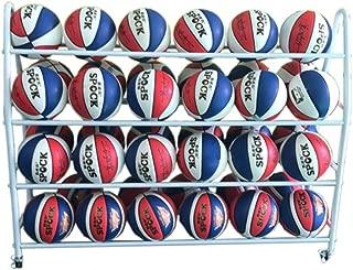 Pettneeds-ST Bastidores de Baloncesto para Pelotas Baloncesto en Rack de 3 Niveles de Almacenamiento en Rack de Baloncesto Balones Las Bolas del Deporte Holder (Color : Blanco, tamaño : Adult)