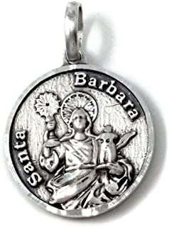 San Antonio Calado medaglia Unisex Atto 925m ciondolo 25 millimetri argento