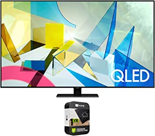 Samsung QN85Q80TAFXZA 85 inch Class Q80T QLED 4K UHD HDR Smart TV 2020 Bundle with Premium 1 Year Extended Protection Plan