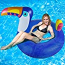 Hinchable colchonetas piscina Playa Flotador - WISHTIME Inflable Tucán Pool Float 43 Giant Beach Lounge Lilos para Piscina, Juguete Veraniego Inflable, ...