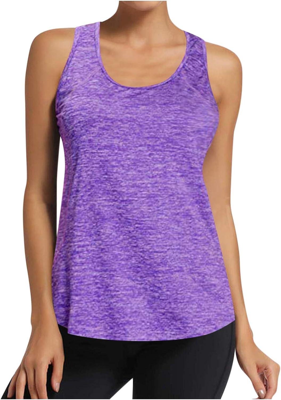 Portazai Cami Tops for Women Sexy Open Back Tank Top Sport Sleeveless Tees Shirt Casual Active Camisole Cami Shirts