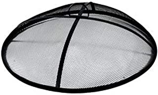 Wisechoice Heavy Duty Iron Mesh Fire Pit Cover | Outdoor Burning Shield, 31 Inch Diameter