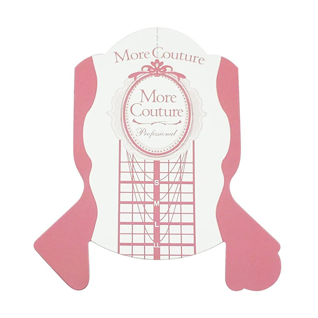 マザーランド貢献むしろMore Couture p ピンクフォーム 100枚 ネイルフォーム