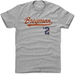 500 LEVEL Alex Bregman Shirt - Houston Baseball Men's Apparel - Alex Bregman Script