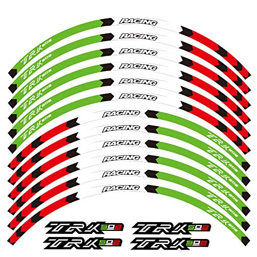 New Motorcycle front&Rear Edge Outer Rim Sticker Wheel Decals Reflective waterproof stickers For Benelli TRK 502