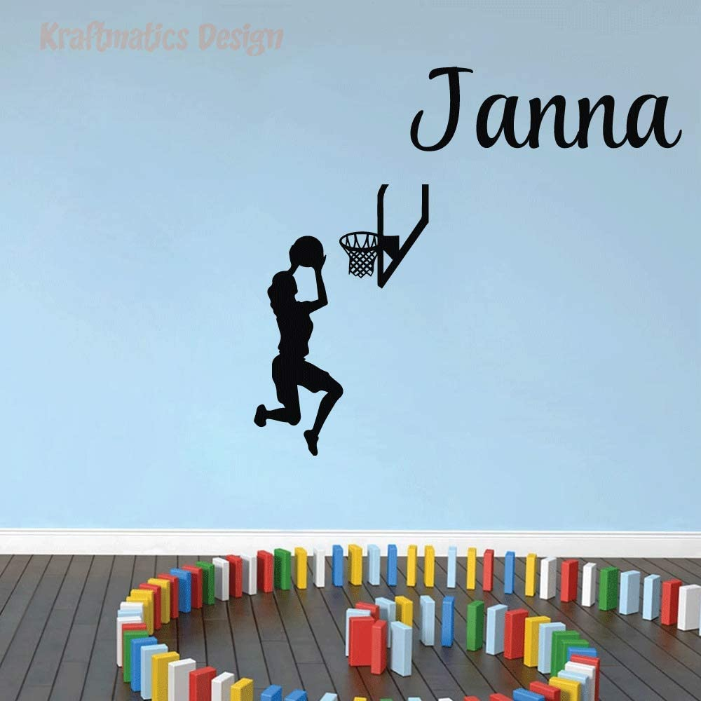 A surprise price New popularity is realized Basketball Girl Player Custom Name De Wall Sports Nursery Series