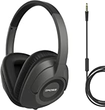 Koss UR42iK Over-Ear Headphones, in-Line Microphone and Touch Remote Control, Detachable Dual Choice Entry Cord, Wired with 3.5mm Plug, Dark Grey and Black