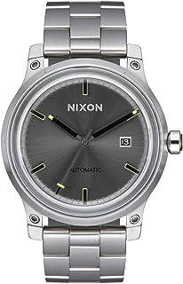 ساعة أوتوماتيكية للرجال من NIXON الجيل الخامس A1294-100M مقاومة للماء (وجه الساعة 42 مم، 21 مم - 19 مم سوار من الفولاذ الم...