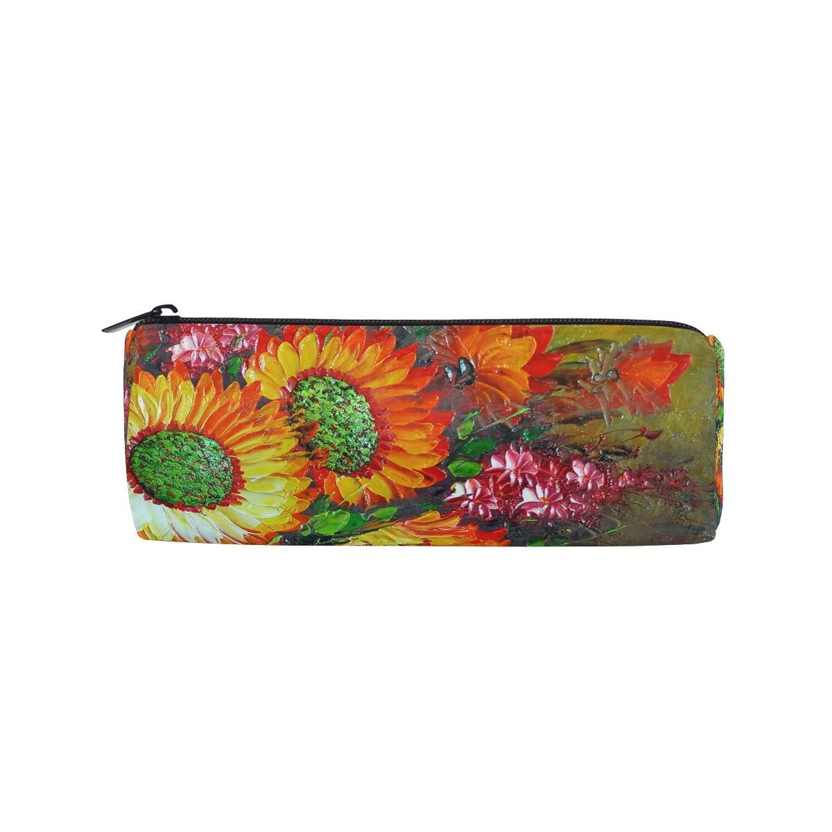 BONIPE - Estuche de pintura al óleo con diseño de girasoles: Amazon.es: Oficina y papelería