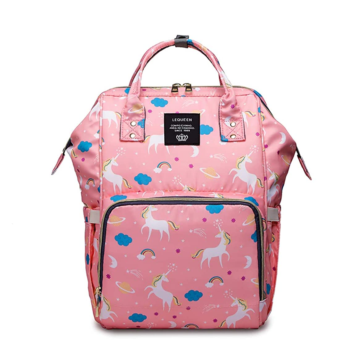 Diaper Bag Backpack, Baby Bag Insert Organizer Travel Backpack Messenger Bag for Boys/Girls with Insulated Pockets, Waterproof Durable Dad and Mom Baby Diaper Bag Organizer Baby Nappy Bags (Pink)