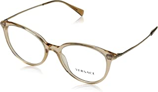 738d1975a7 Versace 0Ve3251B Monturas de gafas, Transparent Light Brown, 52 para Mujer