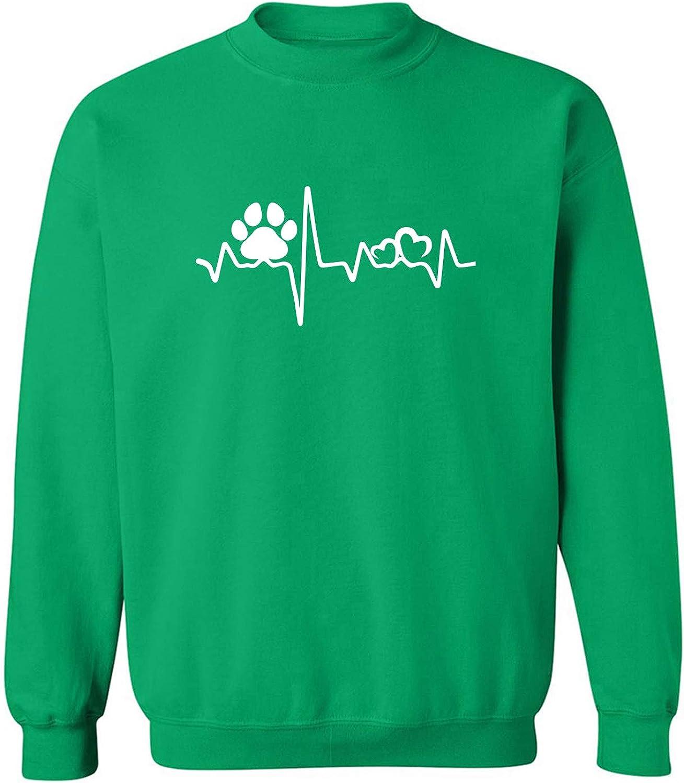 Paw Heartbeat Crewneck Sweatshirt