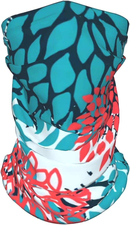 Greem Camo Neck Gaiter Multipurpose Headwear Ice Silk Mask Scarf Summer Cool Breathable Outdoor Sport 4 Pcs
