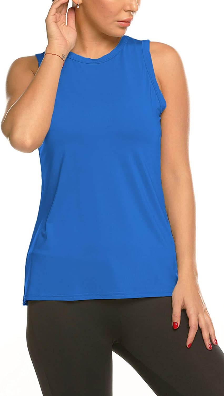 Kancystore Women's Activewear Workout Tank Tops Sleeveless Open Back Yoga Shirts with Mesh