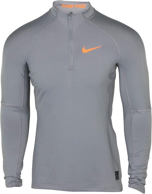 Nike Men's Hyperwarm Half Zip LS Training Top-Cool Grey