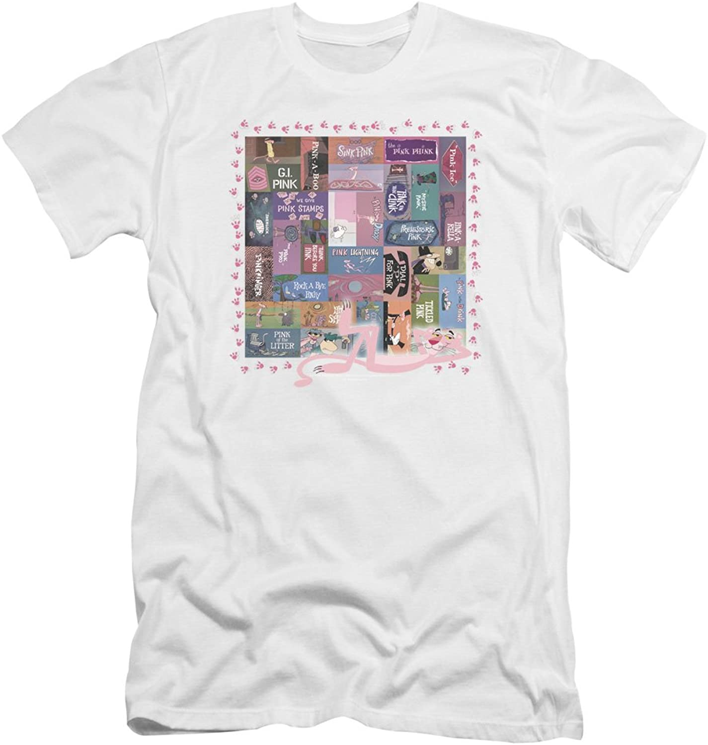 Pink Panther  Mens Vintage Titles Premium Slim Fit TShirt