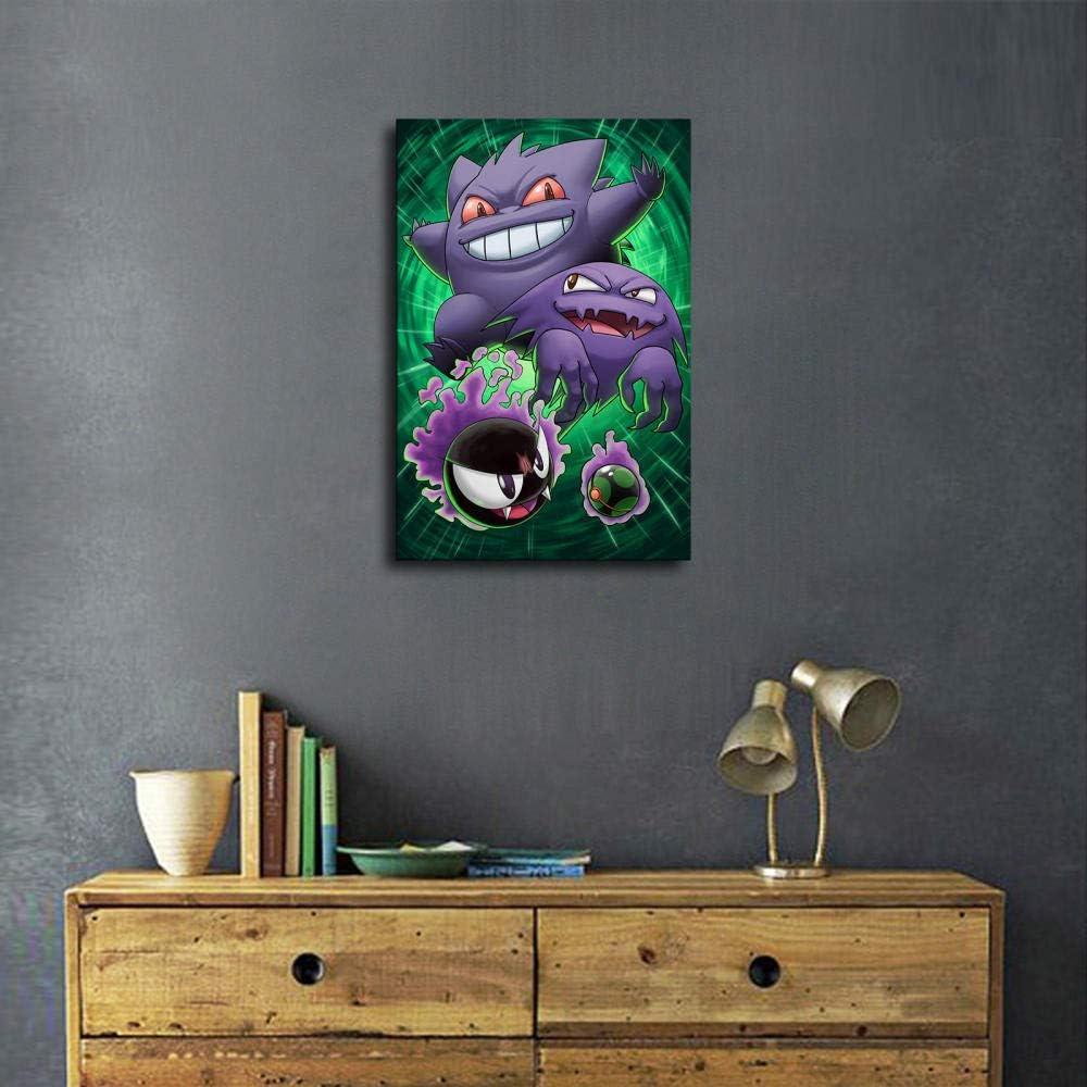 impresi/ón moderna para dormitorio familiar P/óster de Pokemon Power Series y arte de pared