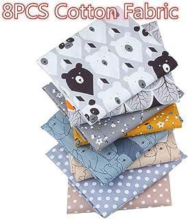 8PCS Cotton Craft Fabric, Bundle Patchwork Squares Quilting Sewing Patchwork DIY (A)