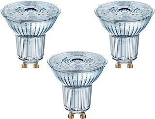 Osram Led Star, Bombilla LED de Plástico, GU10, 4.3 W, Blanco Cálido 2700K, Pack de 3