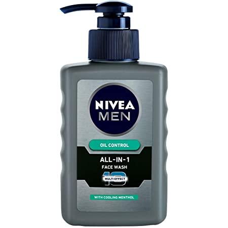 NIVEA Men Face Wash, Oil Control for 12hr Oil Control with 10x Vitamin C Effect, 150 ml