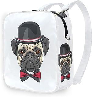 DEZIRO Bulldog - Bolso bandolera con capucha, mochila escolar