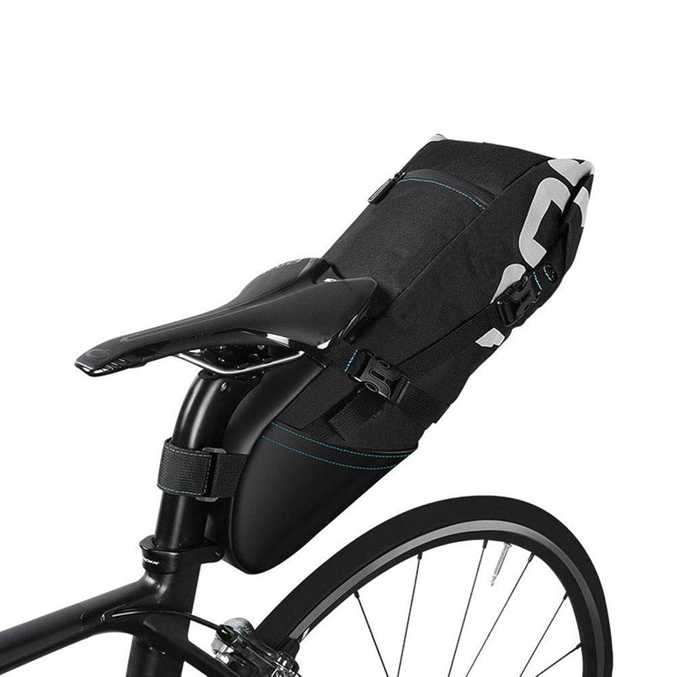 名門に対応ジョセフバンクス自転車パッキングバッグ 防水バイクサドルバッグ 8L 大容量 サイクリング リアシートパック 自転車ストレージバッグ 反射ストライプ