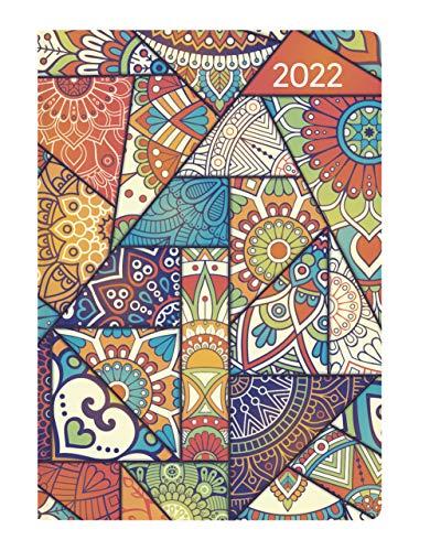 Ladytimer Mini Oriental 2022 - Taschen-Kalender 8x11,5 cm - Muster - Weekly - 144 Seiten - Notiz-Buch - Alpha Edition