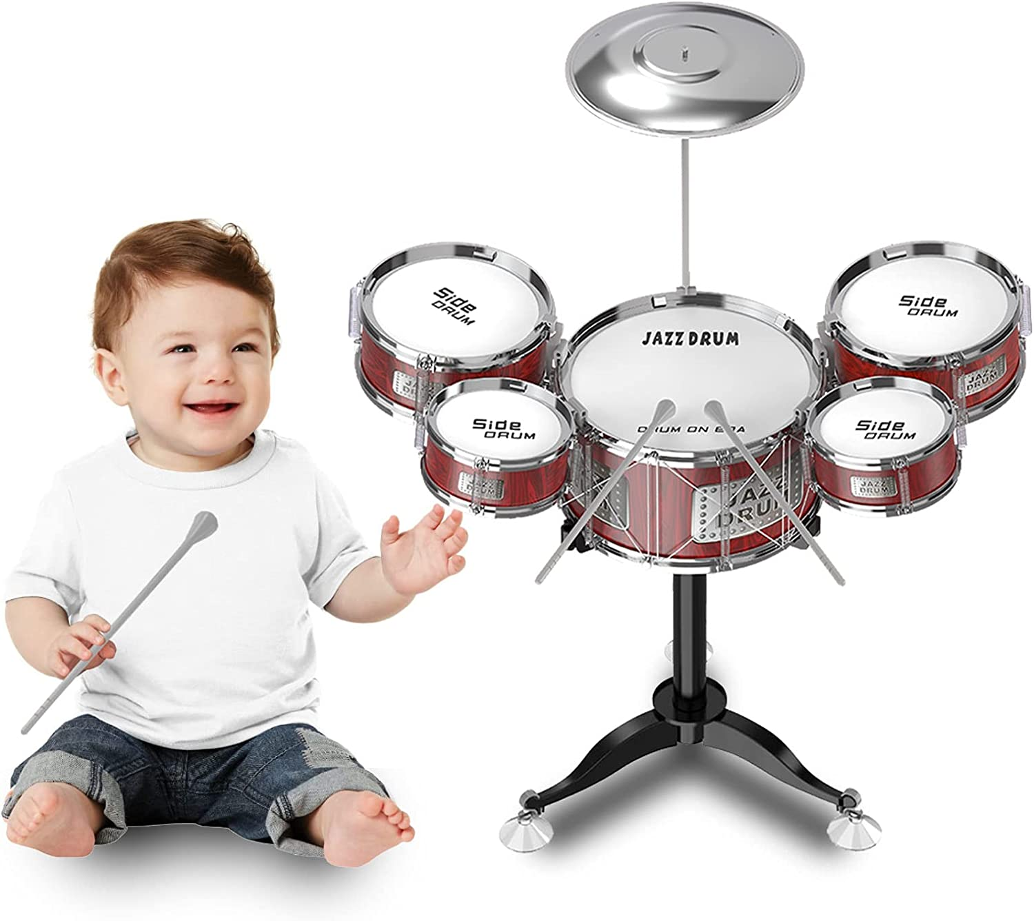 NAVER Small Kids Max 79% OFF Drum Toys for 1-3 Years In Musical Old Toddlers store