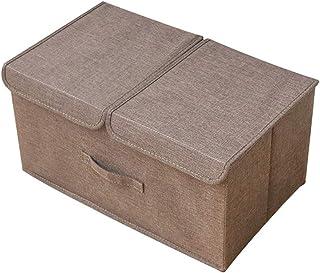 Double Couverture Boîte De Rangement, Linge De Coton Poignée Organisateur Boîte, Vêtements De Rangement Pliable Panier, St...