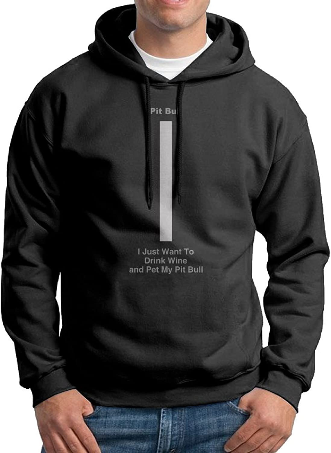 Men I Just Want To Drink Wine And Pet My Pit Bull. Bts Hoodie Funny Hoodies For Men Personality