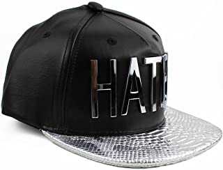 Hater Silver Snakeskin Strapback Hat