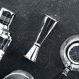 Homestia Cocktail-Set mit Cocktailgläsern, 4 Stück: 24,5 Unzen dickes Rührglas, Hawthorne Cocktailsieb, Doppel-Messbecher, Barlöffel, Silber M Silver - 6