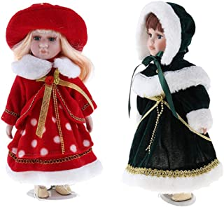 Baosity 12inch Victorian Porcelain Girl Dolls Collectibles, Beautiful Female Figurines Statues, Classic Retro Russia Girl Figures Crafts