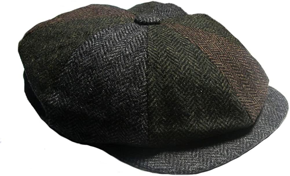 DENTON Gatsby Wool Patchwork Retro Cap outlet Fixed price for sale 55cm Small