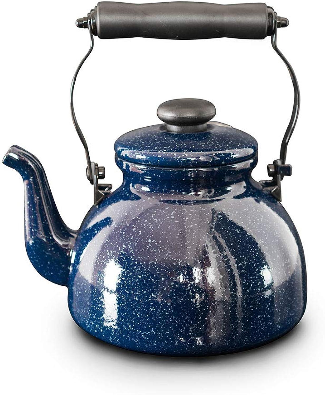apresurado a ver FJH FJH FJH azul Enamel Kettle 2L Cocina de inducción Gas General Creative Starry Porcelain Kettle  envío gratuito a nivel mundial