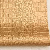 フェイクレザー 合皮レザー 髪の弓のためのヘビーデューティビニールレザーレットフェイクレザー生地、耐火燃剤は、クラフトデコレーションを作ります 車の補修シート・バイクの補修シート・ソファー補修シートに最適な素材です (Color : Gold, Size : 1.38X3m(4.53X9.84ft))