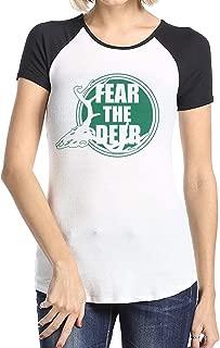Women's Short Sleeve Baseball T-Shirts Thon Maker, Girls Raglan Sleeves Jersey Tee Shirt Black S