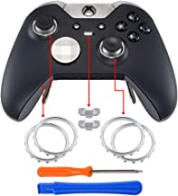 eXtremeRate Matte Chrome Profile Switch Buttons Accent Rings Accessories Parts for Xbox One Elite Controller Pack of 2
