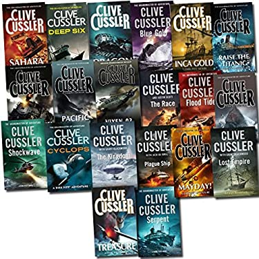 Dirk Pitt Novel Collection - Clive Cussler 20 Book Set: Floodtide, Dragon Treasure, Etc...