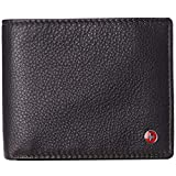 Alpine Swiss RFID Protected Mens Spencer Leather Wallet Bifold 2 ID Windows Divided Bill Section Comes in Gift Box Brown