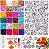 InnoRock Beads for Jewelry Making Kit for Kids - 4mm Seed Pony Bead and Letter Beads for Friendship Bracelet Making Kits - Arts and Crafts for Girls and Boys Ages 6 7 8 9 Years Old