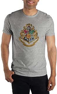 Harry Potter Hogwarts Crest & Motto Draco Dormiens Nunquan Titillandus Women's Gray Tee T-Shirt Shirt