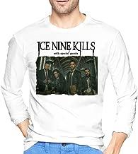 Aervllry Ice Nine Kills Leisure Men's Long Sleeve T-Shirts White